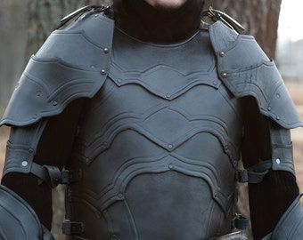 Leather cuirass, part of full LARP-armour
