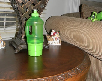 GREEN - Personalized Water Bottles with Snack Cup