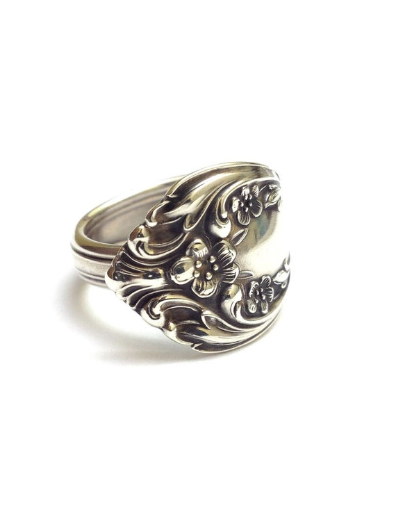 sterling silver spoon ring by cypressstudio on etsy