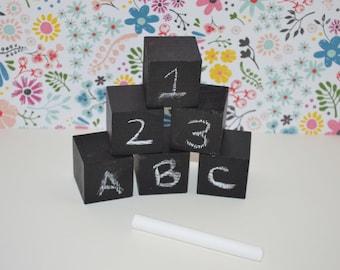 Small Chalkboard Blocks