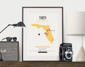 Zombie Safe Zone Tampa Map Poster - Tampa Florida Map