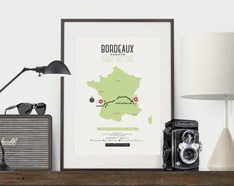 Zombie Safe Zone Bordeaux Map Poster - Bordeaux France City Map