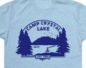 Camp Crystal Lake T SHIRT Friday the 13th vintage soft Shirts poster Cult Horror womens mens Kids Tee shirt