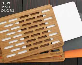 Portable modern desk, laptop table, Eco Friendly Bamboo table, Work table, Lap desk, Tablio Mini Desk