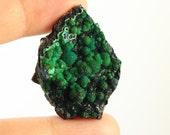 Malachite Botryoidal Malachite over Azurite Green Cabochon Pendant Jewelry Supply Mystery Crystal - Free Shipping