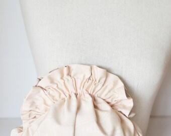 Ivory clutch,silk moire clutch,small purse,blush pink clutch,ruffle,shoulder bag,bridesmaid purse,wedding,bridesmaid gift,evening bag,fancy