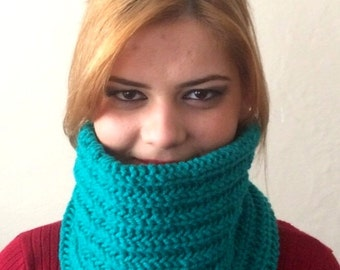 turquoise green infinity scarf  turquoise  green circle scarf turguoise green hat cap