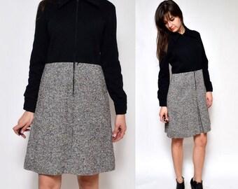Vintage 60's Mod Tweed Dress