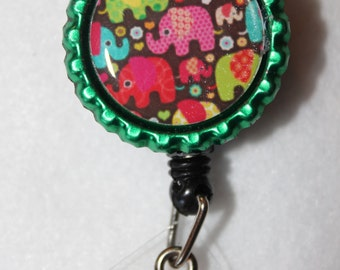 Elephant badge holder reel