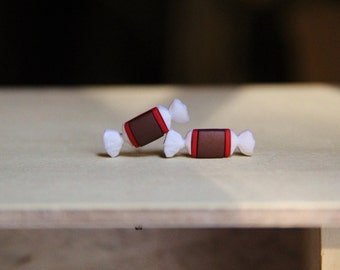 Tootsie Roll Stud Earrings!
