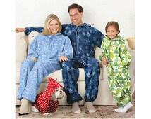 ADULT ONESIE PATTERN Childs Teen Fleece Front Zipper Union Suit Loungewear Pattern Dog Coat Pattern Simplicity 1731 Sewing Patterns UNCuT