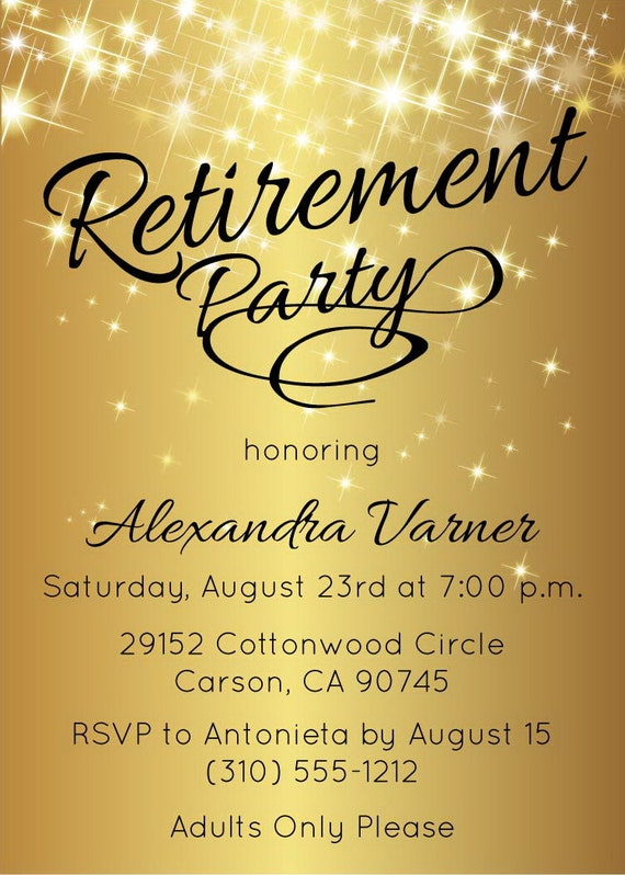 Ridiculous image pertaining to free printable retirement invitations