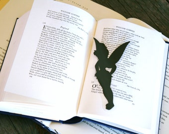 Tinkerbell - Hand-cut Silhouette Bookmark, J.M. Barrie, Peter Pan Bookmark, Neverland, Literary Character