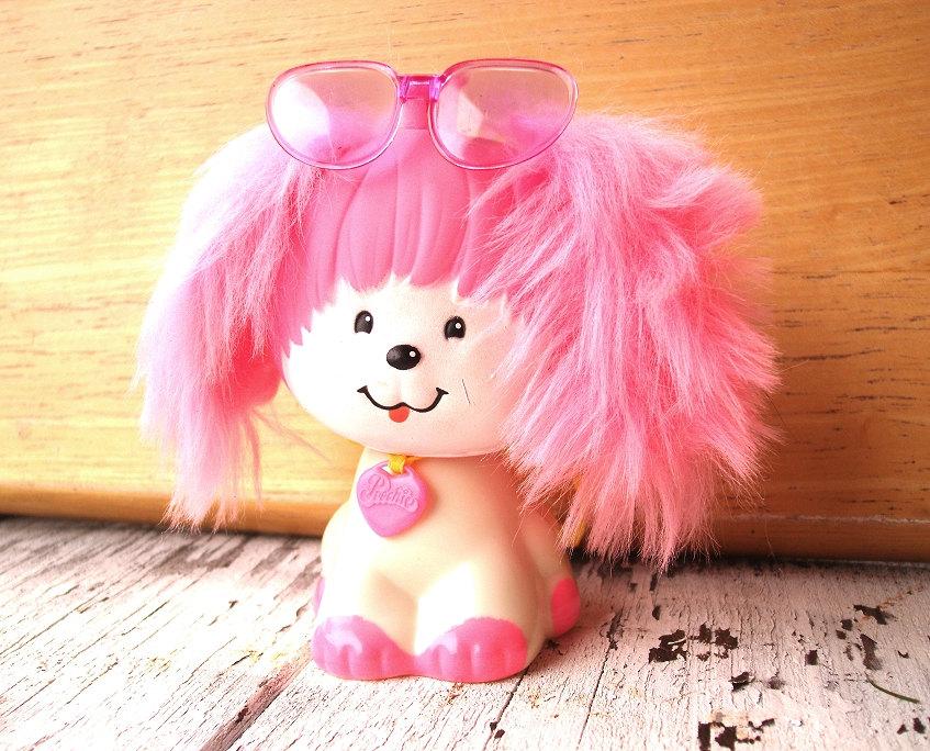 Vintage Poochie stamper toy Mattel Poochie dog toy 1980s