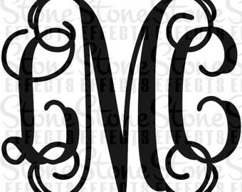 """vehicle decals, monogram decals, 5"""" Monogram Stickers, decals for vehicles, Outdoor decal, monogram stickers, DIY, vehicle sticker"""