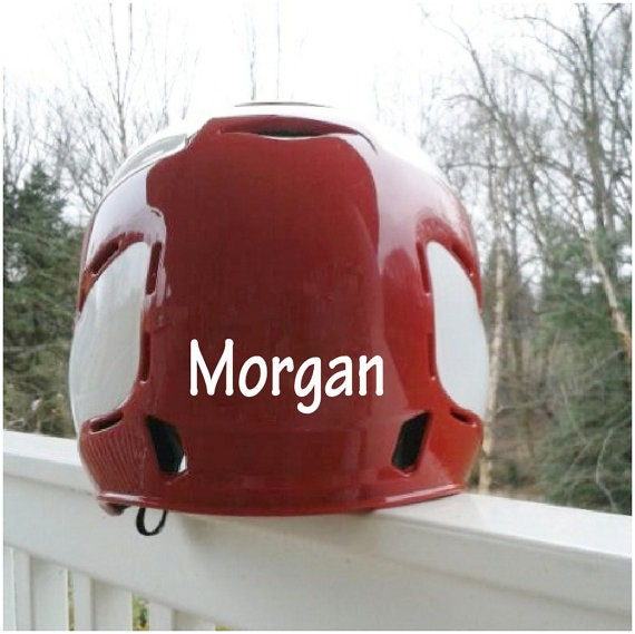 Vinyl Name Decal Name Decal Softball Sticker Name Stickers - Custom vinyl stickers for helmets