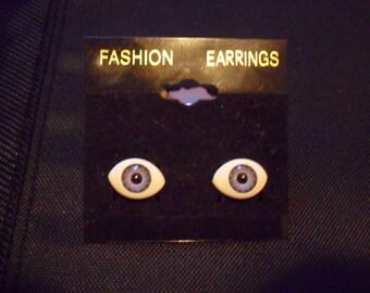 Creepy Eye Halloween Earrings