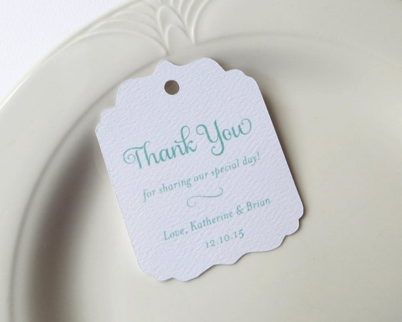 Minted Wedding Gift Tags : Mint Thank You Tags, Personalized Gift Tags, Shower or Wedding Favor ...