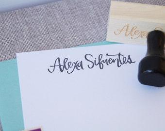 Custom Calligraphy Name Stamp