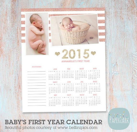 Baby Calendar Design : Calendar newborn baby s first year by