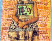 Play Volume 1 vintage art zine Collectible Limited Edition Teesha Moore and Guest Artists