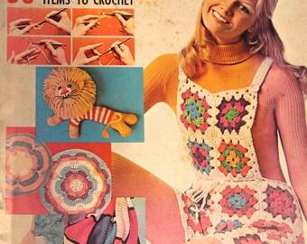 Vintage McCall's Crochet Lesson for Beginners Magazine Book 4 1970s Crochet Patterns
