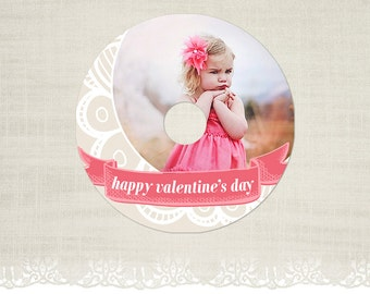 Valentine's Day CD/DVD Label - Photography CD Label Template -CD12