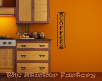 Coffee vinyl wall decal quote