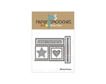 Paper Smooches Die - Stitched Frames