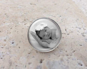 Custom photo Tie Clip or Lapel Pin,Tie Pin, Custom Wedding Party Gifts, Father of the Bride Groom,Mens Gifts, Fathers Day
