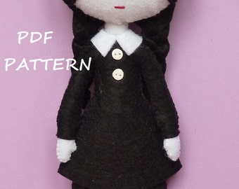 PDF sewing pattern to make felt Wednesday.