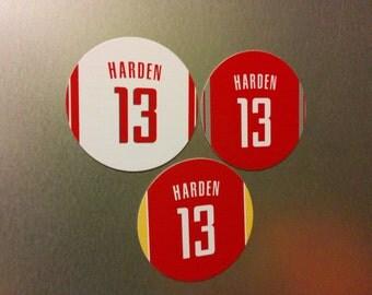James Harden Magnets - Houston Rockets Jersey Design - 3 magnet set with #13