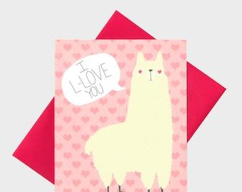 Funny Llama Love Card - Funny I Love You Card - Llama Love Card - I Love You Card - Funny - Llama - Anniversary - Card - Llama Card - Cute
