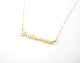 Tiny Bridesmaid Necklace - 1007 LAST CHANCE