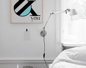 Me & You - Love typographic print