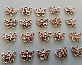 Butterfly Charms - Silver Plated