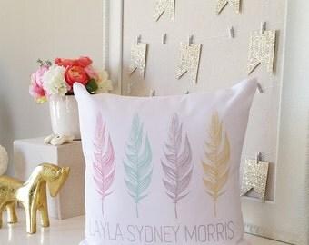 Personalized Baby Shower Gift Pillow Cover, Girl Boy Toddler, Kids Gift for Nursery Decor, New Born Pillow, Baby Shower Gift, Custom Name