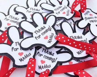 Mickey Mouse Favor Tags ; Thanks for Stopping By Glove Birthday Favor Tags; Mickey Mouse Clubhouse; Disney Birthday Party Tags