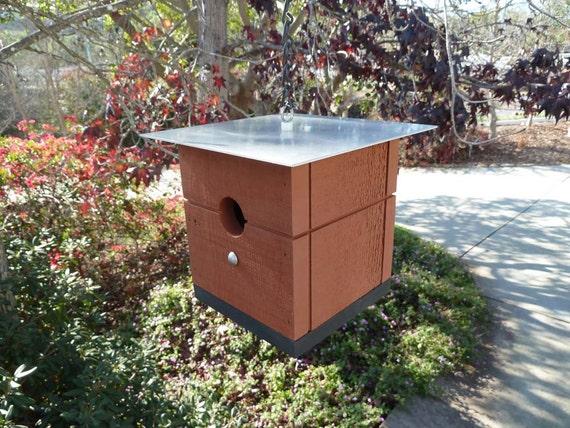 cabane d 39 oiseaux color moderne pour les petits oiseaux. Black Bedroom Furniture Sets. Home Design Ideas