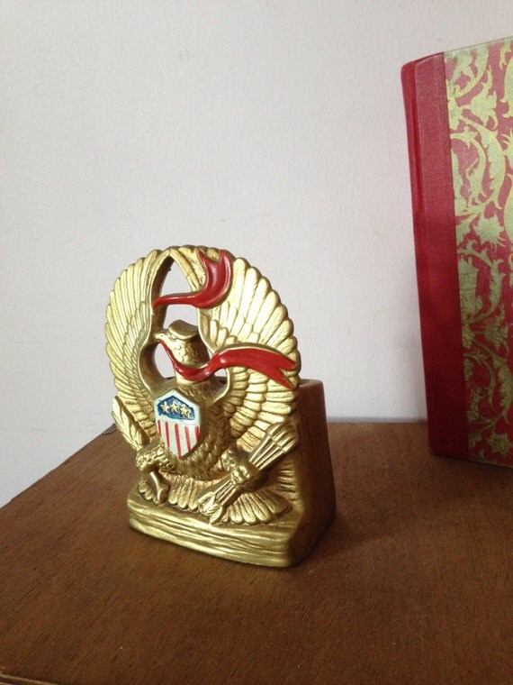 EAGLE PLANTER PENCIL Holder Gold Ceramic by AnnmarieFamilyTree