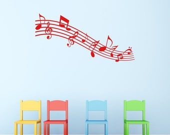 Music Notes Wall Sticker, Music Wall Decals, Childrens Wall Art, Bedroom  Wall Transfers