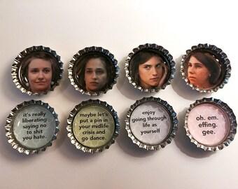 HBO GIrls Bottle Cap Magnets