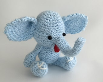 Items similar to knit elephant pacifier holder for babies ...