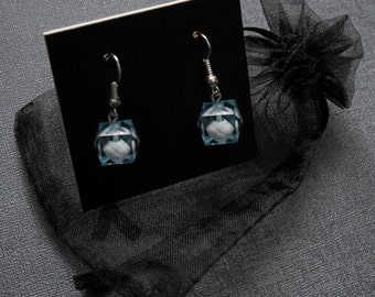 Loki earrings – Tesseract hypercube themed cosplay prop – jewelry / jewellery