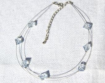 Blue Floating Necklace