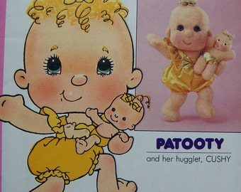 Patooty & Cushy Doll Pattern Hugga Bunch Hugglet Pattern