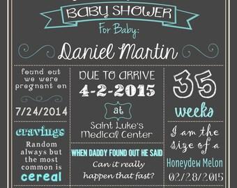 Baby Shower Poster DIGITAL FILE