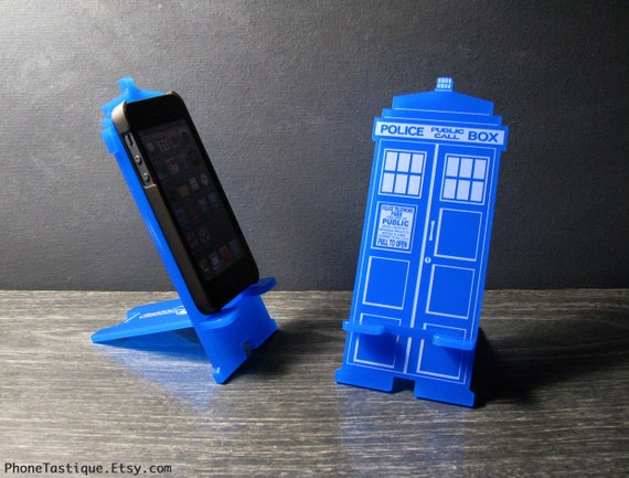 Doctor Who TARDIS  iPhone Stand Charger Station - iPhone Dock - iphone 4 and 5 or iPhone 6 and 6 Plus 2 sizes available will fit most phones