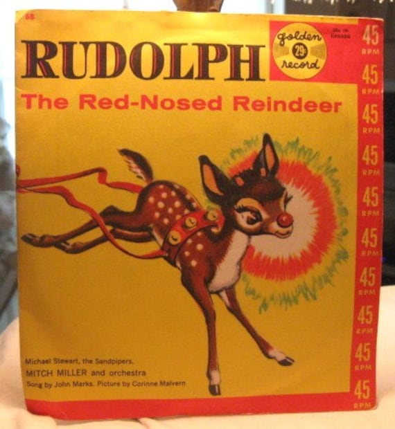 Rudolph the Red Nosed Reindeer Golden Record Christmas Album Extended Play 45 RPM Music Vintage 1950's  MINT 5 Songs Children's