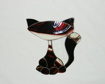 Stained Glass Cat, Ornament,Suncatchers